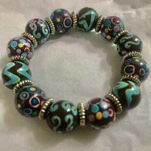 Angela Moore bracelet hand painted